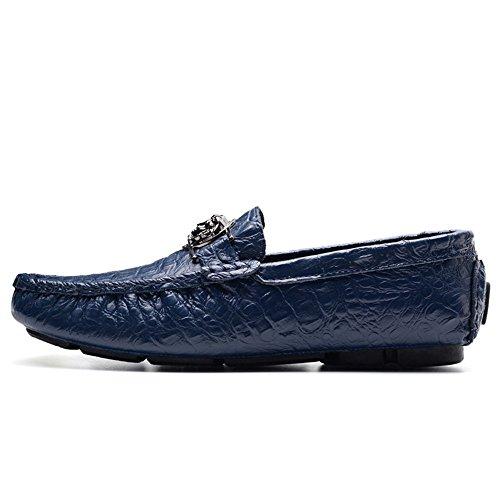 de Verde Zapatos Casuales 40 shoes Hombre Azul impresión tamaño de para Conductor Shufang Zapatos Hombres Negocios Patrón de Loafer Color los 2018 Mocasines Ocio EU cocodrilo Mocasines zSqFUcFHB