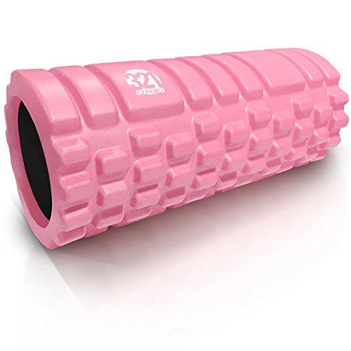 321 STRONG Foam Massage Roller - Deep Tissue Massager For Your Muscles & Back, Bubble Gum