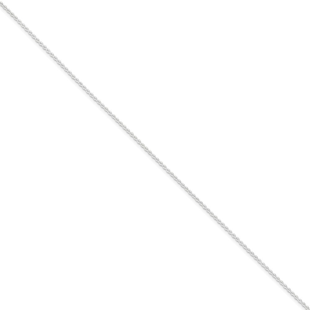 Sterling Silver Polished 1.5mm Link Chain Anklet With Spring Ring Clasp Length 9 Inch