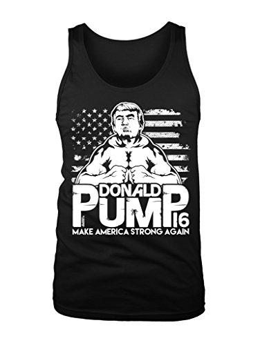 LOGOPOP Mens Donald Pump Tank Top Medium Black (Best Way To Build Biceps And Triceps)