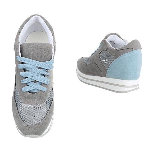 Ital-Design - Zapatillas altas Mujer Grau 6550-Y