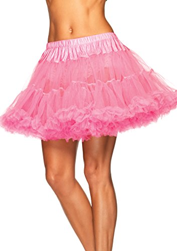 Leg Avenue Beer Girl Costume (Leg Avenue Women's Layered Tulle Petticoat, Light Pink,)