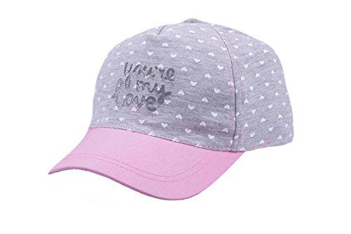 Price comparison product image Bienzoe Girl's Cotton Heart Printed Baseball Adjustable Cap Sun Visors Flat Hat