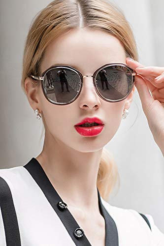 Pol Gray Sunglasses - 2018 Sunglasses Women Girls Influx Light Small Retro Colorful Sunglasses Driving Mirror Polarized Film Glasses Round face (Silver Gray Box Permeable Sheet (pol)