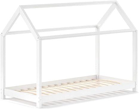 VitaliSpa – Cuna Wiki 90 x 200 cm, cama blanca: Amazon.es ...