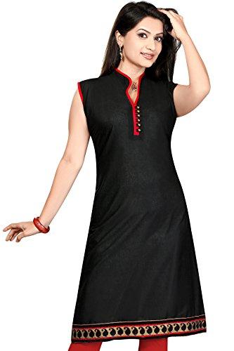 ALC Creations Black Red Cotton Kurti