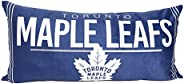 NHL Toronto Maple Leafs Body Pillow 18 x 36, Soft and Plush Pillow for Hockey Fans, Multi-Colour