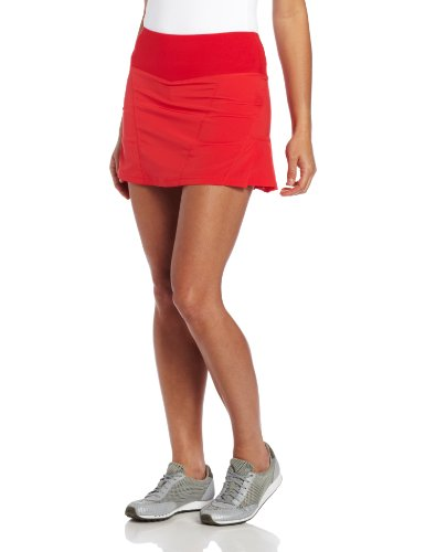Bolle Women's Essentials Woven Fabric Pull On Skirt, Red, X-Large