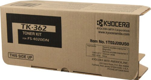 NEW Kyocera OEM Toner TK-362 (BLACK) (1 Cartridge) (Mono Laser Supplies) by Kyocera