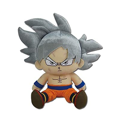 "Great Eastern Entertainment Dragon Ball Super - Goku Ultra Instinct Sitting Plush 7"": Toys & Games"