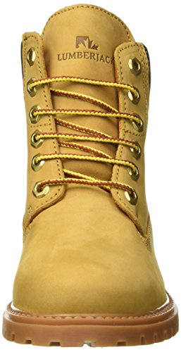 Donna Dk M0001 Scarpe Brown Alto Collo a River Yellow Lumberjack Giallo BwX0zqRaw