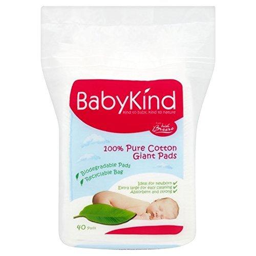 babykind–Teli in cotone Pads 40per confezione