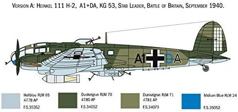 1:72 Scale Plastic Model Kit Italeri 1436 Heinkel HE111H Unpainted