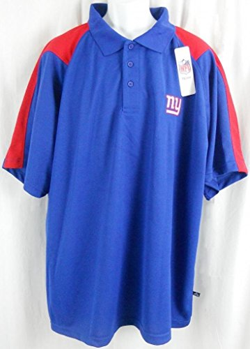 New York Giants NFL Team Apparel Embroidered Dri Fit Polo Golf Shirt Big Sizes (4XL)