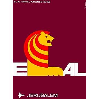 Israel Palestine Man Blowing Horn Vintage Travel Advertisement Art Poster Print