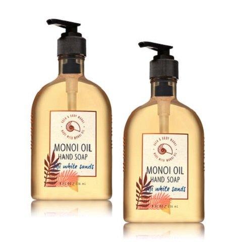 Bath and Body Works 2 Pack Fiji White sands Hand Soap With Monoi Oil. 8 Oz. ()
