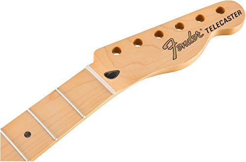 Fender Deluxe Series Telecaster Neck with 12-in Radius and 22 Narrow Tall Frets - Maple Fingerboard by Fender
