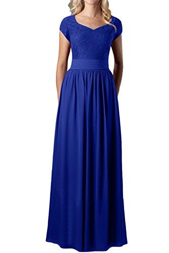 para 48 azul trapecio mujer Vestido real Topkleider wE6HxH