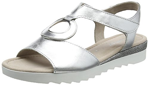 Gabor WoMen Comfort Sport Open Toe Sandals Multicolor (Silber Glamour)