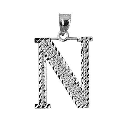 10 ct 471/1000 Initiale N Or Blanc- Pendentif