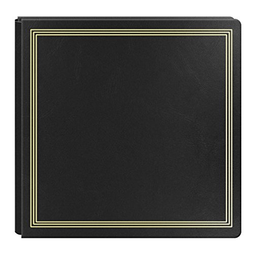 Large Magnetic Page X-Pando Photo Album, Black