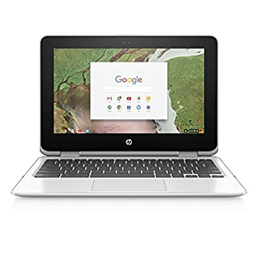 HP 11-ae030nr Chromebook x360 11 Convertible Laptop, Intel Celeron N3350, 4GB RAM, 16GB eMMC storage, Chrome OS (White)