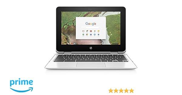 HP Chromebook x360 11-inch Laptop with 360-degree Hinge, Intel Celeron  N3350 Processor, 4 GB RAM, 64 GB eMMC Storage, Chrome OS (11-ae120nr, Snow