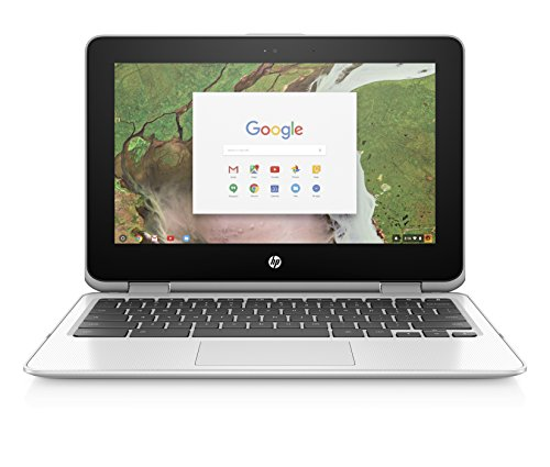 HP Chromebook x360 11-inch Laptop with 360-degree Hinge, Intel Celeron N3350 Processor, 4 GB RAM, 32 GB eMMC Storage, Chrome OS (11-ae110nr, Snow White) (Hp 16gb Sd Card)