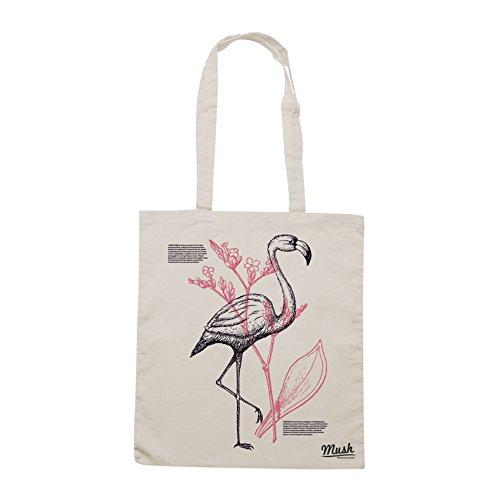Borsa I LOVE NATURE - BOTANICA E FENICOTTERO - Sand - MUSH by Mush Dress Your Style