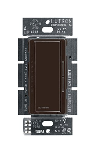 Lutron Maestro C.L Dimmer Switch for Dimmable LED, Halogen & Incandescent Bulbs, Single-Pole or Multi-Location, MACL-153M-BR, Brown ()