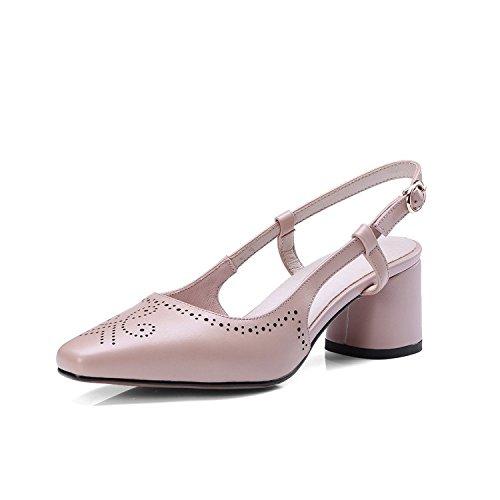 de Sandalias mujer con gruesos de mujer verano Zapatillas de sandalias Sandalias cuadrada Pink y labios Moda sandalias cabeza luz Sandalias wRxftqIX