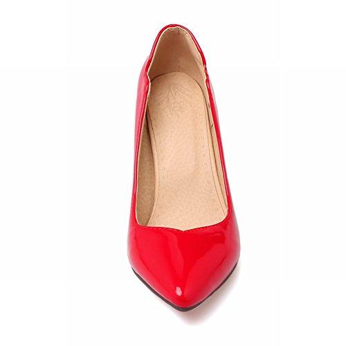 Mee Shoes Damen Stiletto ohne Verschluss einfach Pumps Rot