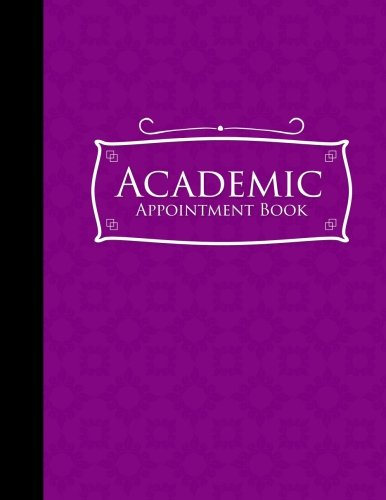 Download Academic Appointment Book: 4 Columns Appointment Organizer Planner, Cute Appointment Book, Timed Appointment Book, Purple Cover (Volume 17) PDF