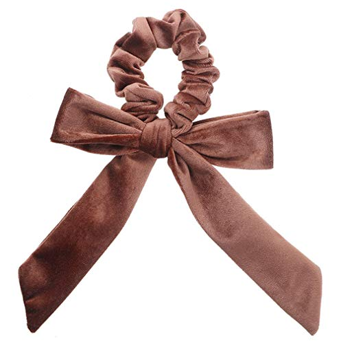 DARLING HER Velvet Scrunchies Elastic Hair Band Bow Hair Ropes Girls Hair Ties Women Hair Accessories Sweet Women Head Band ()