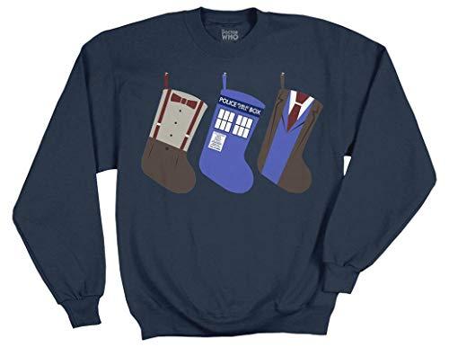 (Ripple Junction Doctor Who Christmas Stockings Adult Sweatshirt Medium)