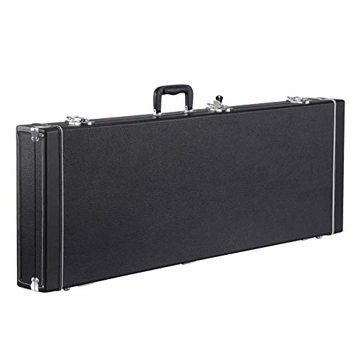 Yaheetech Electric Guitar Hard Shell Case Portable Square Guitar Case for Standard Electric Guitars Black