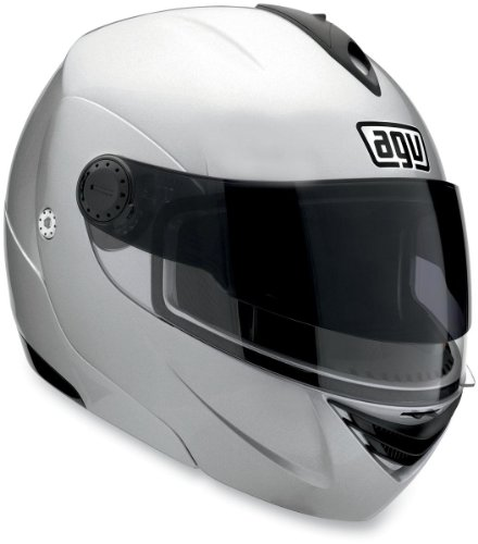 AGV Miglia 2 Solid Helmet , Size: XS, Primary Color: Silver, Helmet Type: Modular Helmets, Helmet Category: Street, Distinct Name: Silver, Gender: Mens/Unisex 089154B0004004