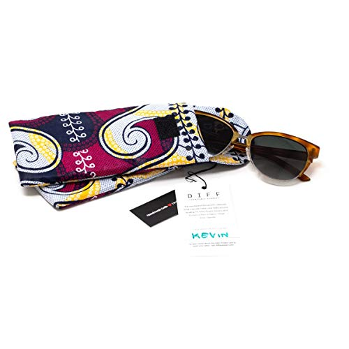 Handmade in Uganda Soft Eyewear Case Hand Stitched African Kitenge Sunglasses Pouch AMANA