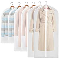 H HOME-MART Set of 6 Garment Bags for Storage, Dust-Proof Suit Bags Garment Cover with Sturdy Zipper, Washable Dust…