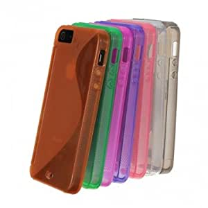 S-Line Protective Gel Back Case Cover Skin For iPhone 5 5G 5th --- Color:Pink