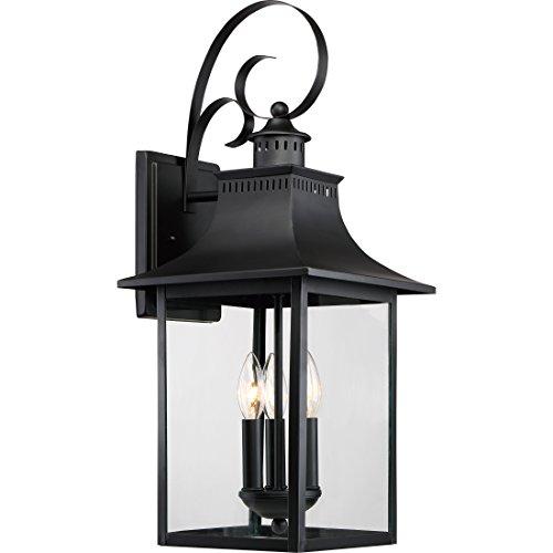 Quoizel CCR8410K Outdoor Chancellor Lantern, Large, Mystic (Black Large Wall Lantern)