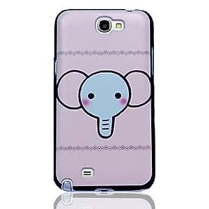 Conseguir Cría de elefante Caso duro del patrón para Samsung Galaxy Note N7100 2