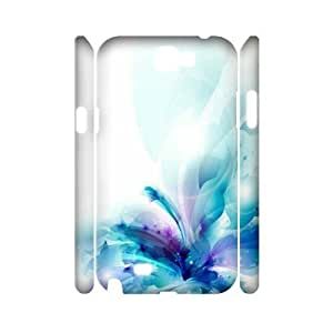 3D Samsung Galaxy Note 2 Case, Abstract Watercolor Hard Case For Samsung Galaxy Note 2(White) Yearinspace062830