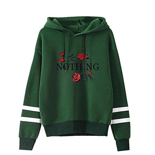 - Ximandi Womens Flower Print Long Sleeve Tunic Hoodie Ladies Comfy Hooded Jumper Sweatshirt