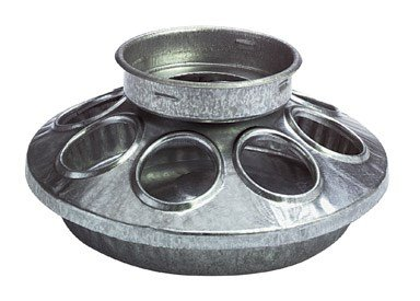 Miller Manufacturing 9810 Round Jar Galvanized Feeder Base for Birds, 1-Quart]()