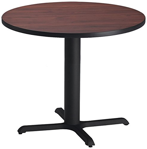 Mayline Bistro Series Round Dining Height Table with Black Base, Mayline Bistro Tables