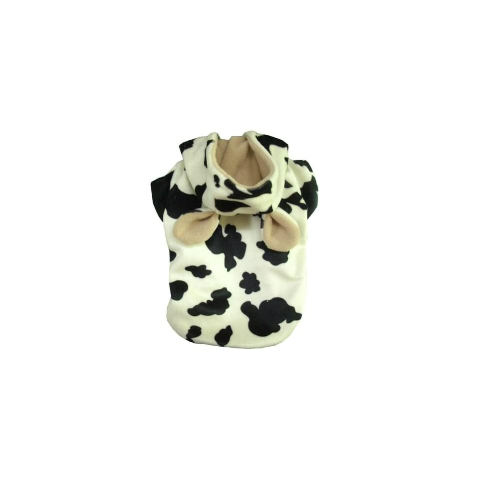 Cow   Dog Puppy Pet Clothes Jacket Coat Hoodie  Large