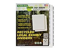 Kleer-Fax Letter-Size Index Dividers, Collated Exhibit Number Sets, Side Tab, 1/10th Cut, 1 Set per Pack, White, EXHIBIT 21-40 (80240)