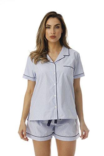 - Cocoom Button Down Pajama Short Set 6714-BLU-L