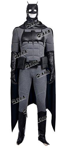 Mtxc Men's Batman Cosplay Costume Bruce Wayne Full Set Size Large Gray